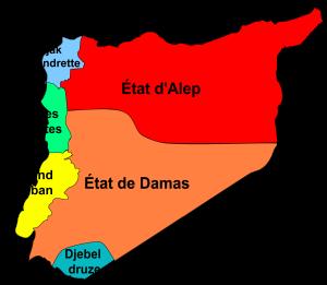 PARTAGE DE LA SYRIE